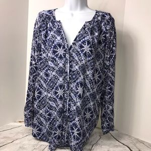 🔅NEW Lucky Brand Pullover Blouse Sz XS